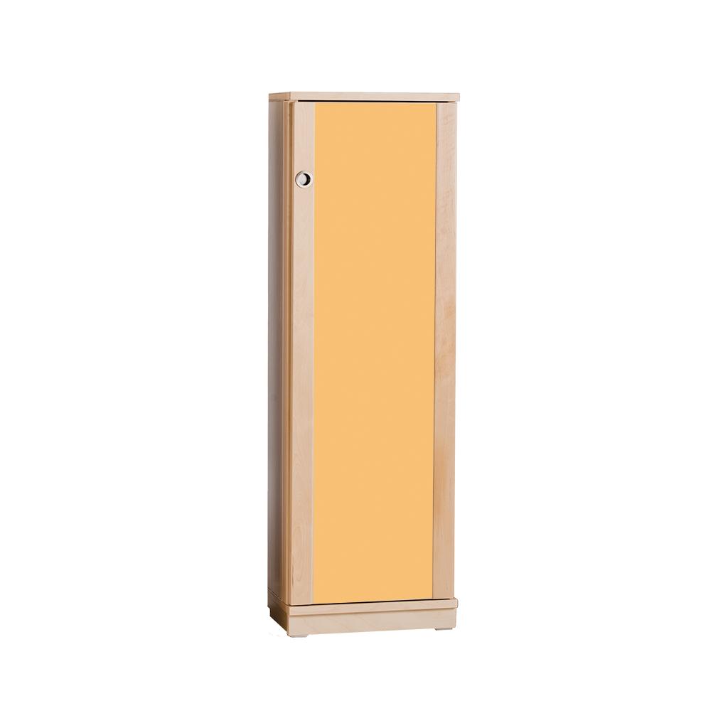 regalschrank birke - türen farbig - 125 x 40 x 40 cm - 3 böden