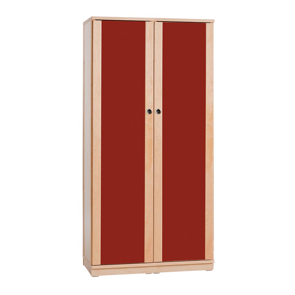 Regalschrank Buche - Türen farbig - 165 x 80 x 40 cm - 5 Böden ...